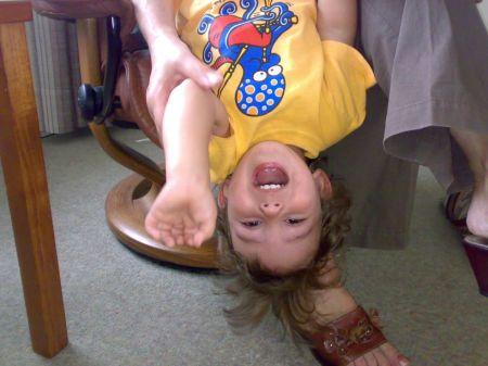 thomas upside down